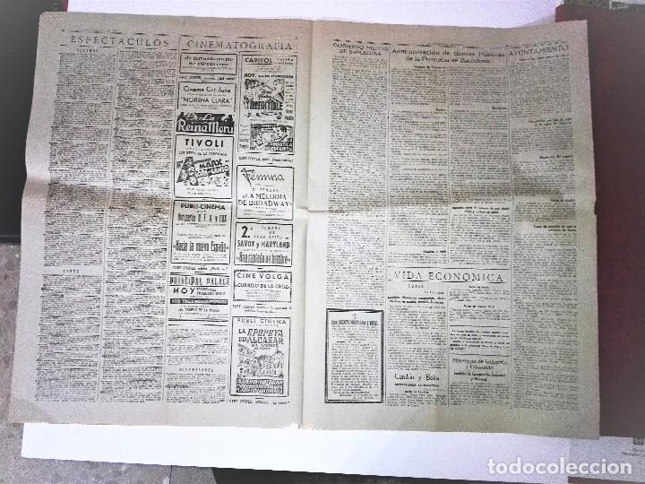 Coleccionismo Periódico La Vanguardia: LA VANGUARDIA 2ª EPOCA, 10 DE MARZO DE 1939. CON TEXTO INTEGRO FUERO DEL TRABAJO - Foto 5 - 81231828