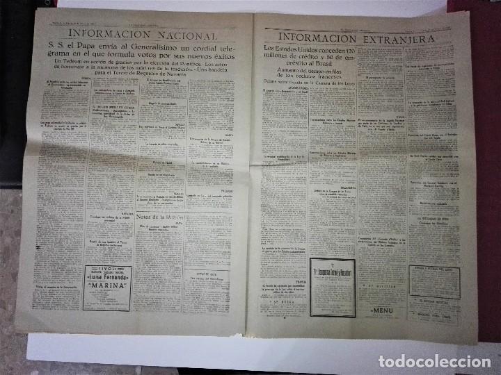 Coleccionismo Periódico La Vanguardia: LA VANGUARDIA 2ª EPOCA, 10 DE MARZO DE 1939. CON TEXTO INTEGRO FUERO DEL TRABAJO - Foto 6 - 81231828