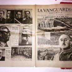 Coleccionismo Periódico La Vanguardia: LA VANGUARDIA 4 PAGINAS, 2 DE ABRIL DE 1939, EL DERRUMBAMIENTO DE LA ZONA ROJA. Lote 81234572