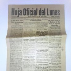 Coleccionismo Periódico La Vanguardia: HOJA OFICIAL DEL LUNES , 20 DE FEBRERO DE 1939, III AÑO TRIUMFAL. EL ORO DE LOS ESPAÑOLES. Lote 81235504