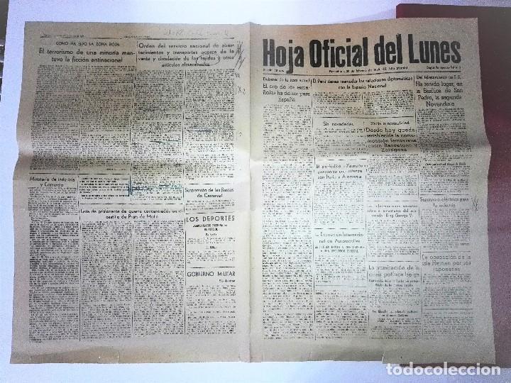 Coleccionismo Periódico La Vanguardia: HOJA OFICIAL DEL LUNES , 20 de febrero de 1939, III Año triumfal. EL ORO DE LOS ESPAÑOLES - Foto 2 - 81235504
