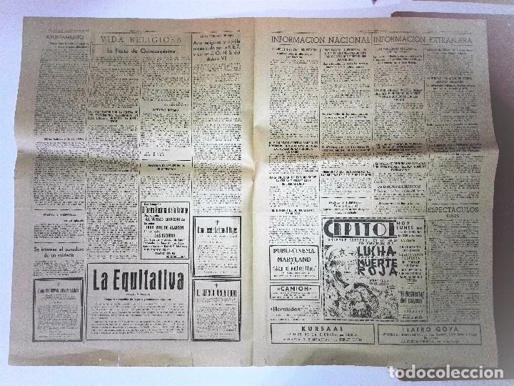 Coleccionismo Periódico La Vanguardia: HOJA OFICIAL DEL LUNES , 20 de febrero de 1939, III Año triumfal. EL ORO DE LOS ESPAÑOLES - Foto 3 - 81235504