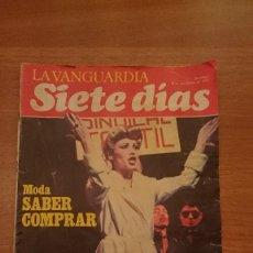 Coleccionismo Periódico La Vanguardia: LA VANGUARDIA -SIETE DIAS - 28 DE NOVIEMBRE 1982. Lote 81724056