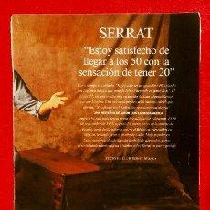 Coleccionismo Periódico La Vanguardia: REPORTAJE LA VANGUARDIA (1993) JOAN MANUEL SERRAT - SATISFECHO DE LLEGAR A LOS 50 (HOJAS SUELTAS). Lote 83769044