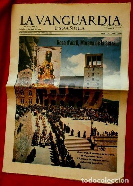 MONTSERRAT (27-ABRIL-1963) SUPLEMENTO LA VANGUARDIA -ROSA D'ABRIL- PUBLICIDAD AVECREM - FLOID PANTEN (Coleccionismo - Revistas y Periódicos Modernos (a partir de 1.940) - Periódico La Vanguardia)
