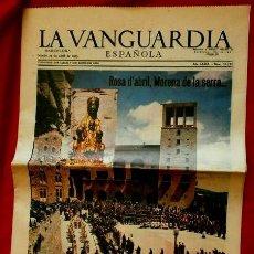 Coleccionismo Periódico La Vanguardia: MONTSERRAT (27-ABRIL-1963) SUPLEMENTO LA VANGUARDIA -ROSA D'ABRIL- PUBLICIDAD AVECREM - FLOID PANTEN. Lote 85333556