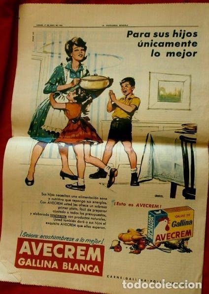 Coleccionismo Periódico La Vanguardia: MONTSERRAT (27-ABRIL-1963) SUPLEMENTO LA VANGUARDIA -ROSA DABRIL- PUBLICIDAD AVECREM - FLOID PANTEN - Foto 2 - 85333556
