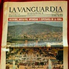 Coleccionismo Periódico La Vanguardia: 31 FERIA DE MUESTRAS DE BARCELONA (1963) SUPLEMENTO LA VANGUARDIA -PUBLICIDAD FRUCO,NESCAFÉ,VIM,BRU. Lote 85340400