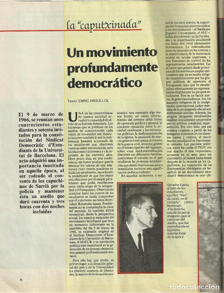 Coleccionismo Periódico La Vanguardia: REVISTA LA VANGUARDIA DOMINGO. 9 MARZO 1986. VEINTE AÑOS DE LA CAPUTXINADA. - Foto 3 - 86502448