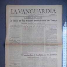 Coleccionismo Periódico La Vanguardia: ALICANTE PERIÓDICO REPUBLICANO LA VANGUARDIA 29 MAYO 1938 BATALLA DE TREMP Y ALICANTE BOMBARDEO. Lote 88926948