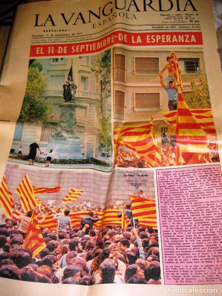 PERIODICO . LA VANGUARDIA 11 SEPTIEMBRE 1977 . DIADA NACIONAL CATALUÑA CATALUNYA (Coleccionismo - Revistas y Periódicos Modernos (a partir de 1.940) - Periódico La Vanguardia)