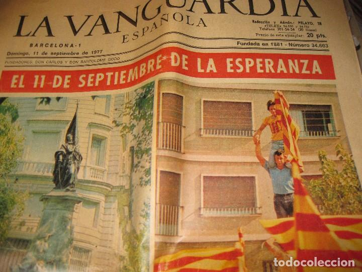 Coleccionismo Periódico La Vanguardia: periodico . la vanguardia 11 septiembre 1977 . diada nacional cataluña catalunya - Foto 2 - 94111485