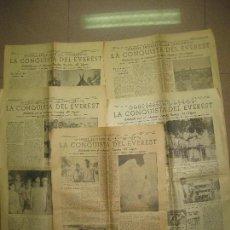 Coleccionismo Periódico La Vanguardia: LA CONQUISTA DEL EVEREST. PUBLICADA EN LA VANGUARDIA EN CINCO REPORTAJES. 5-7-8-9 Y 10 JULIO 1953.. Lote 95143775
