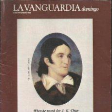 Coleccionismo Periódico La Vanguardia: LA VANGUARDIA DOMINGO, 1 MARZO 1986, ROMY, DAVID CROCKETT, CINE MITICO 2ª ENTREGA, FOTOGRAFOS. Lote 95178807