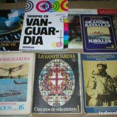 Coleccionismo Periódico La Vanguardia: GRAN LOTE COLECCION DE 61 FASCICULOS REVISTAS Y LIBROS LA VANGUARDIA POR TEMATICAS AÑOS 1980S MIRA !. Lote 97129707