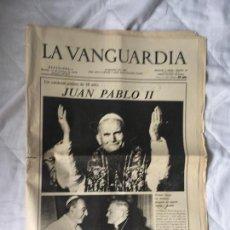Coleccionismo Periódico La Vanguardia: DIARIO LA VANGUARDIA 13 DE OCTUBRE DE 1978 CARDENAL JUAN PABLO II. Lote 97202071