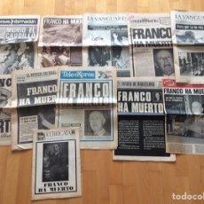 Coleccionismo Periódico La Vanguardia: FRANCISCO FRANCO*MUERTE*COLECCION DE 11 PERIÓDICOS DE LA EPOCA*AÑO 1975*. Lote 97221936