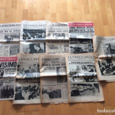 Coleccionismo Periódico La Vanguardia: FRANCISCO FRANCO ENFERMEDAD* COLECCIÓN DE 9 PERIÓDICOS DE LA ÉPOCA*AÑO 1975*. Lote 97222476