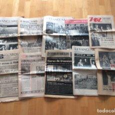 Coleccionismo Periódico La Vanguardia: FRANCISCO FRANCO*ENTIERRO*REY DE ESPAÑA*COLECCION DE 10 PERIÓDICOS DE LA ÉPOCA*. Lote 97222948