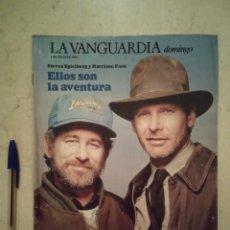Coleccionismo Periódico La Vanguardia: REVISTA ORIGINAL AÑO 1989 - HARRISON FORD - INDIANA JONES - LA ULTIMA CRUZADA. Lote 98094843