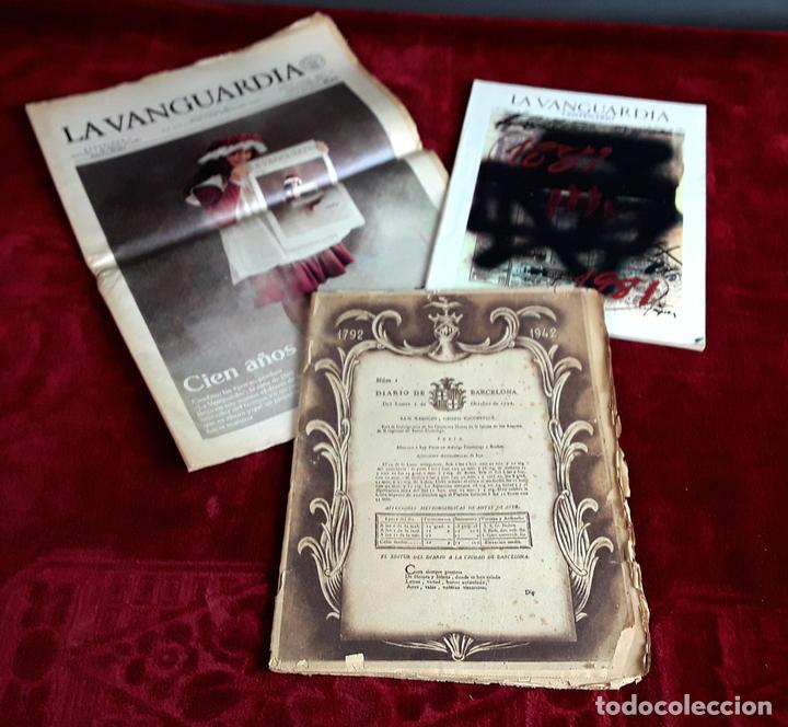 LA VANGUARDIA CENTENARIO Y DIARIO DE BARCELONA. VARIOS AUTORES. 1949/1981. (Coleccionismo - Revistas y Periódicos Modernos (a partir de 1.940) - Periódico La Vanguardia)