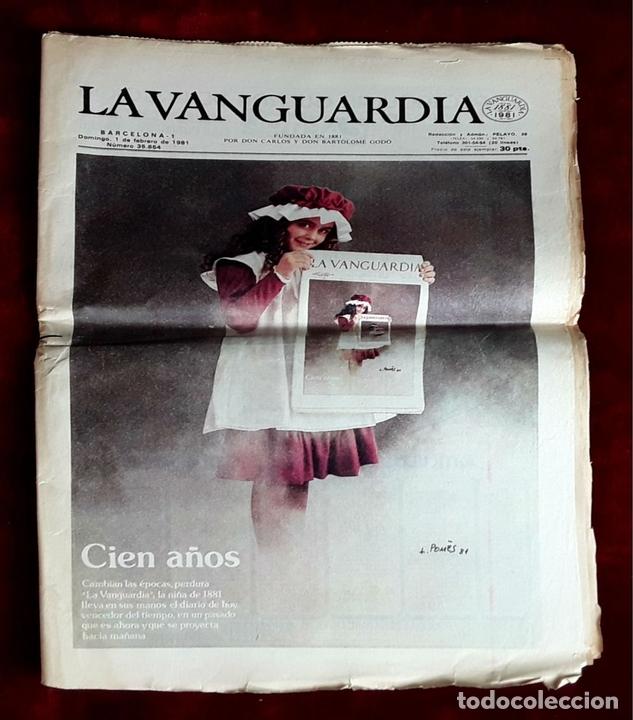 Coleccionismo Periódico La Vanguardia: LA VANGUARDIA CENTENARIO Y DIARIO DE BARCELONA. VARIOS AUTORES. 1949/1981. - Foto 2 - 98474091