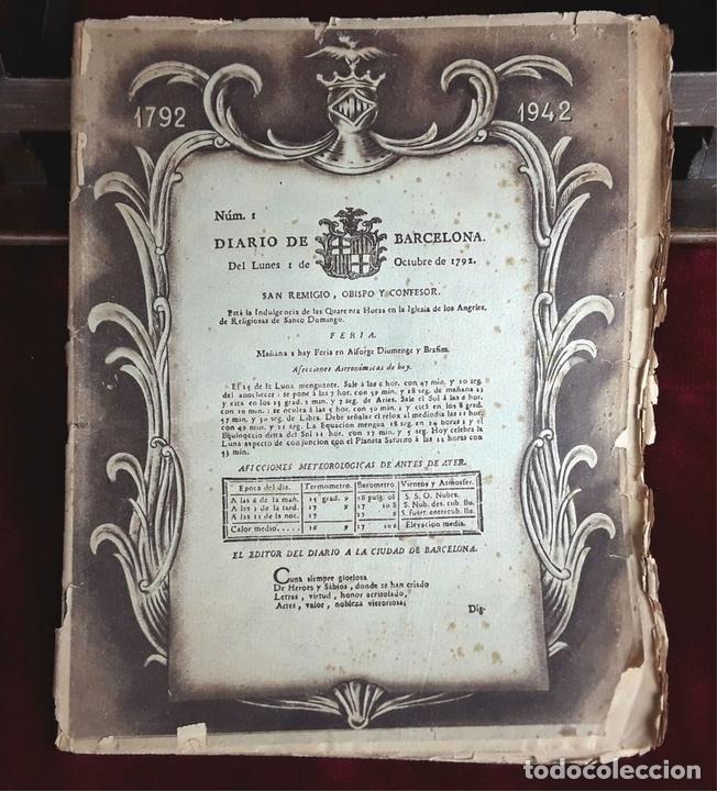 Coleccionismo Periódico La Vanguardia: LA VANGUARDIA CENTENARIO Y DIARIO DE BARCELONA. VARIOS AUTORES. 1949/1981. - Foto 8 - 98474091