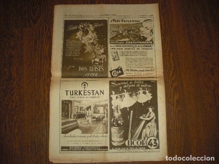 Coleccionismo Periódico La Vanguardia: LA VANGUARDIA , NOVIEMBRE 1951. ANIVERSARIO DE LA MUERTE DEL CARDENAL CISNEROS - Foto 2 - 99853543