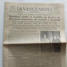 Coleccionismo Periódico La Vanguardia: PERIODICO DIARIO LA VANGUARDIA BARCELONA 29 MAYO 1952. Lote 100571203