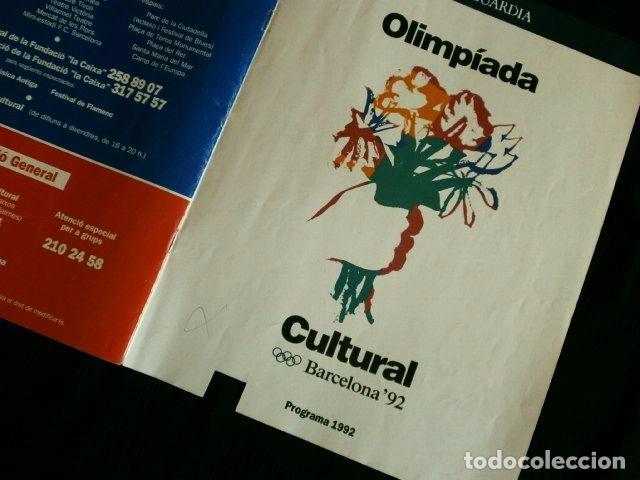 Coleccionismo Periódico La Vanguardia: PROGRAMA OLIMPIADA CULTURAL BARCELONA 92 - LA VANGUARDIA - FESTIVAL OLIMPIC DE LES ARTS 1992 -TEATRO - Foto 2 - 102675439