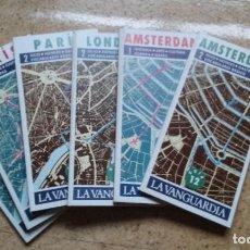 Coleccionismo Periódico La Vanguardia: GUIAS DE PARIS LONDRES AMSTERDAM DE LA VANGUARDIA 1987. Lote 111222899
