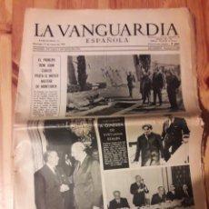 Coleccionismo Periódico La Vanguardia: LA VANGUARDIA ESPAÑOLA 12 MARZO 1967 PORCIOLES ARIAS NAVARRO JUAN CARLOS. Lote 111387512