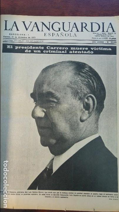 2 TOMOS LA VANGUARDIA 1973-1980. FRANCO TARRADELLAS JORDI PUJOL JUAN CARLOS ELECCIONES TRANSICION (Coleccionismo - Revistas y Periódicos Modernos (a partir de 1.940) - Periódico La Vanguardia)