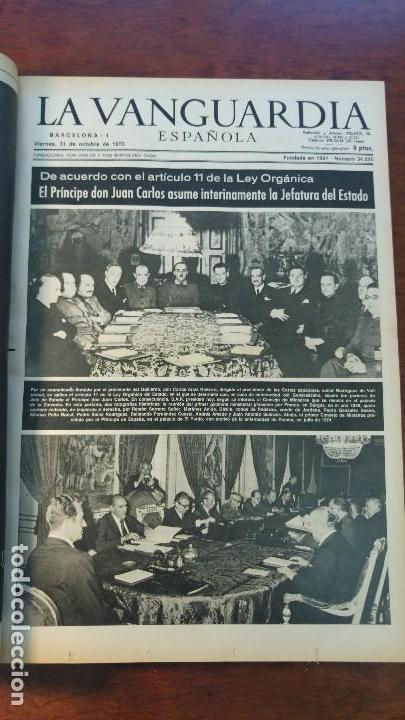 Coleccionismo Periódico La Vanguardia: 2 TOMOS LA VANGUARDIA 1973-1980. FRANCO TARRADELLAS JORDI PUJOL JUAN CARLOS ELECCIONES TRANSICION - Foto 2 - 118737715