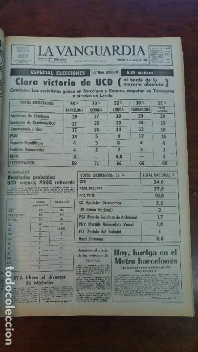 Coleccionismo Periódico La Vanguardia: 2 TOMOS LA VANGUARDIA 1973-1980. FRANCO TARRADELLAS JORDI PUJOL JUAN CARLOS ELECCIONES TRANSICION - Foto 21 - 118737715