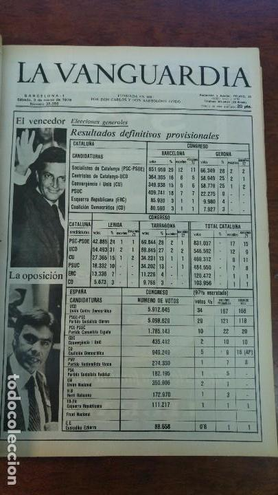 Coleccionismo Periódico La Vanguardia: 2 TOMOS LA VANGUARDIA 1973-1980. FRANCO TARRADELLAS JORDI PUJOL JUAN CARLOS ELECCIONES TRANSICION - Foto 22 - 118737715