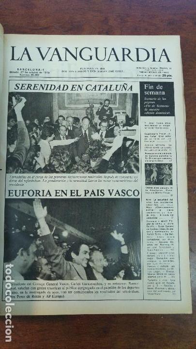 Coleccionismo Periódico La Vanguardia: 2 TOMOS LA VANGUARDIA 1973-1980. FRANCO TARRADELLAS JORDI PUJOL JUAN CARLOS ELECCIONES TRANSICION - Foto 27 - 118737715