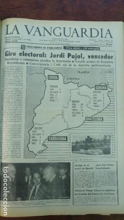 Coleccionismo Periódico La Vanguardia: 2 TOMOS LA VANGUARDIA 1973-1980. FRANCO TARRADELLAS JORDI PUJOL JUAN CARLOS ELECCIONES TRANSICION - Foto 30 - 118737715