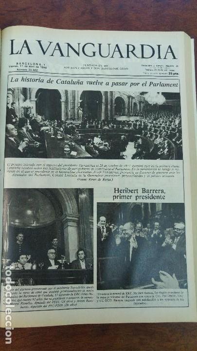 Coleccionismo Periódico La Vanguardia: 2 TOMOS LA VANGUARDIA 1973-1980. FRANCO TARRADELLAS JORDI PUJOL JUAN CARLOS ELECCIONES TRANSICION - Foto 31 - 118737715
