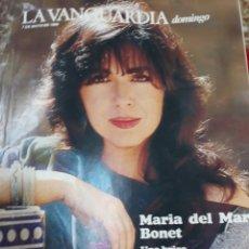 Coleccionismo Periódico La Vanguardia: REVISTA 5/89 LA VANGUARDIA-MARIA DEL MAR BONET. Lote 119883475