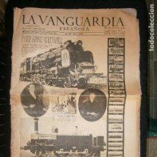 Coleccionismo Periódico La Vanguardia: F1 LA VANGUARDIA ESPAÑOLA EL CENTENARIO DEL FERROCARRIL EN ESPAÑA DESPUES JUEVES 28 DE OCTUBRE 1948. Lote 120192811