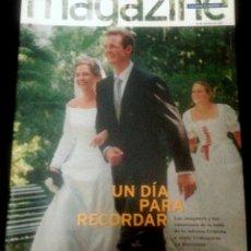 Coleccionismo Periódico La Vanguardia: MAGAZINE DE LA VANGUARDIA DEL 12 DE OCTUBRE DE 1997. BODA DE CRISTINA DE BORBON E IÑAKI UNDARGARIN. Lote 121608511