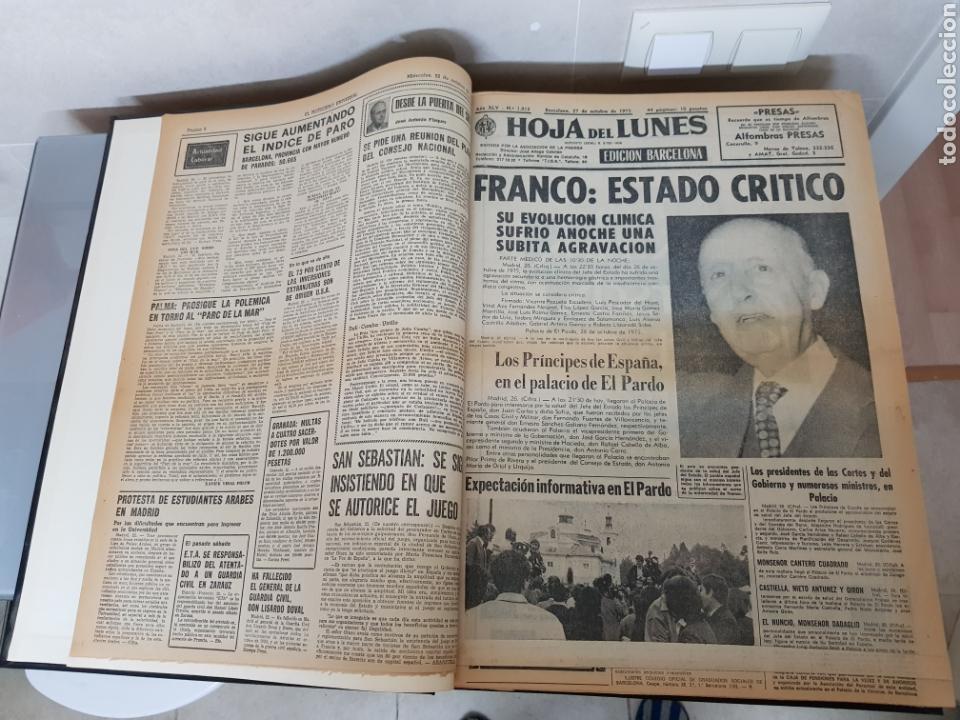 Coleccionismo Periódico La Vanguardia: Vol. ENCUADERNADO ENFERMEDAD Y MUERTE DE FRANCO 46X33cm - Foto 5 - 126014304