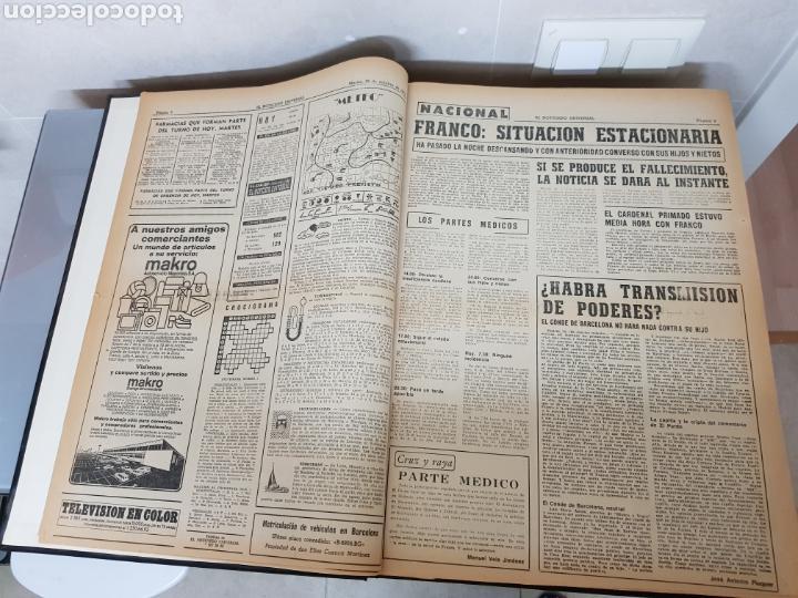 Coleccionismo Periódico La Vanguardia: Vol. ENCUADERNADO ENFERMEDAD Y MUERTE DE FRANCO 46X33cm - Foto 7 - 126014304