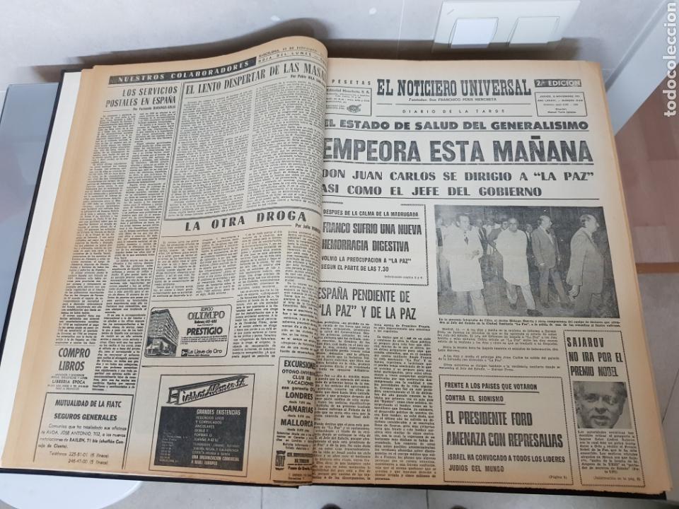 Coleccionismo Periódico La Vanguardia: Vol. ENCUADERNADO ENFERMEDAD Y MUERTE DE FRANCO 46X33cm - Foto 10 - 126014304