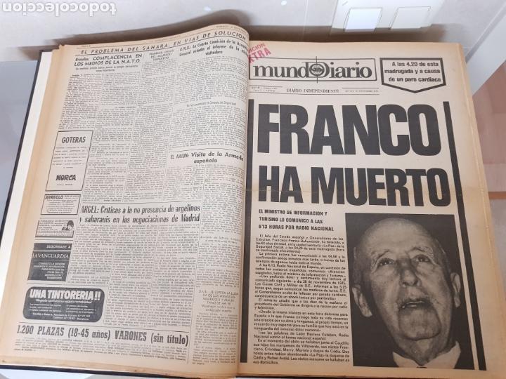 Coleccionismo Periódico La Vanguardia: Vol. ENCUADERNADO ENFERMEDAD Y MUERTE DE FRANCO 46X33cm - Foto 13 - 126014304