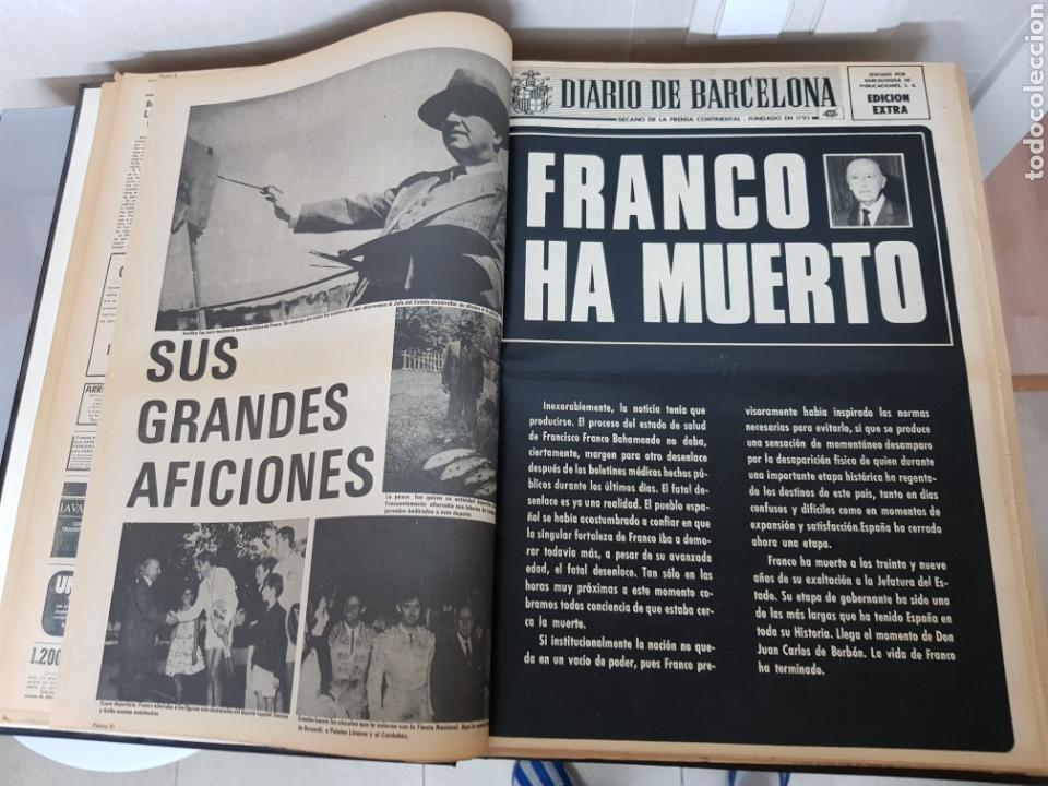 Coleccionismo Periódico La Vanguardia: Vol. ENCUADERNADO ENFERMEDAD Y MUERTE DE FRANCO 46X33cm - Foto 14 - 126014304