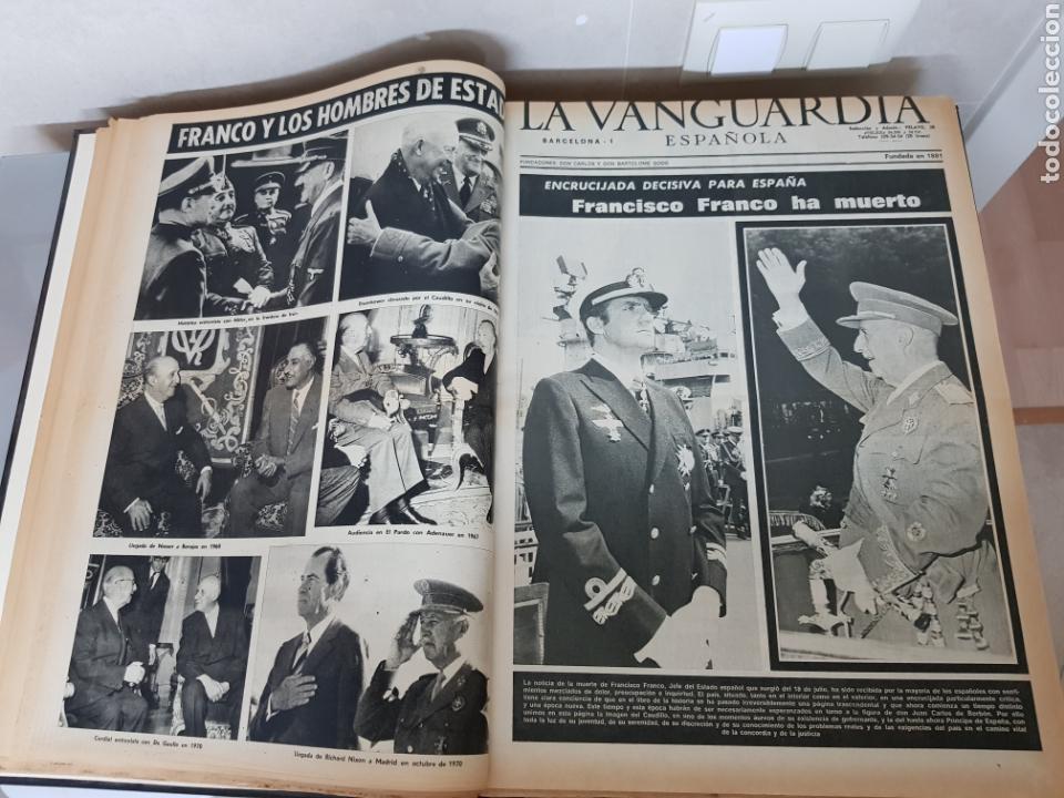 Coleccionismo Periódico La Vanguardia: Vol. ENCUADERNADO ENFERMEDAD Y MUERTE DE FRANCO 46X33cm - Foto 15 - 126014304