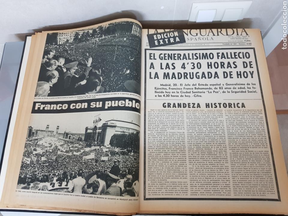 Coleccionismo Periódico La Vanguardia: Vol. ENCUADERNADO ENFERMEDAD Y MUERTE DE FRANCO 46X33cm - Foto 17 - 126014304