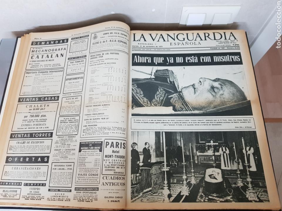 Coleccionismo Periódico La Vanguardia: Vol. ENCUADERNADO ENFERMEDAD Y MUERTE DE FRANCO 46X33cm - Foto 19 - 126014304